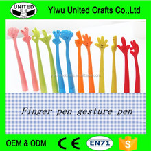 Cute Cartoon Gesture Finger Pen decorative ballpoint pens Flexible Ballpoint Pen