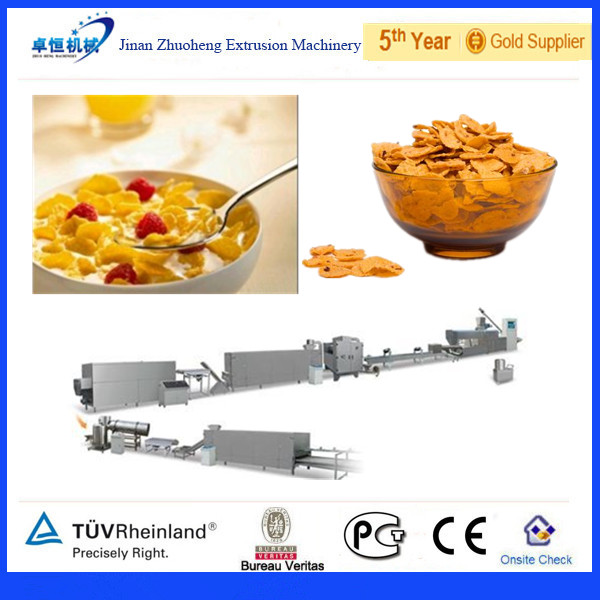 Automatic Kelloggs Toast Corn Flakes Making Machine / Breakfast Cereal Machine