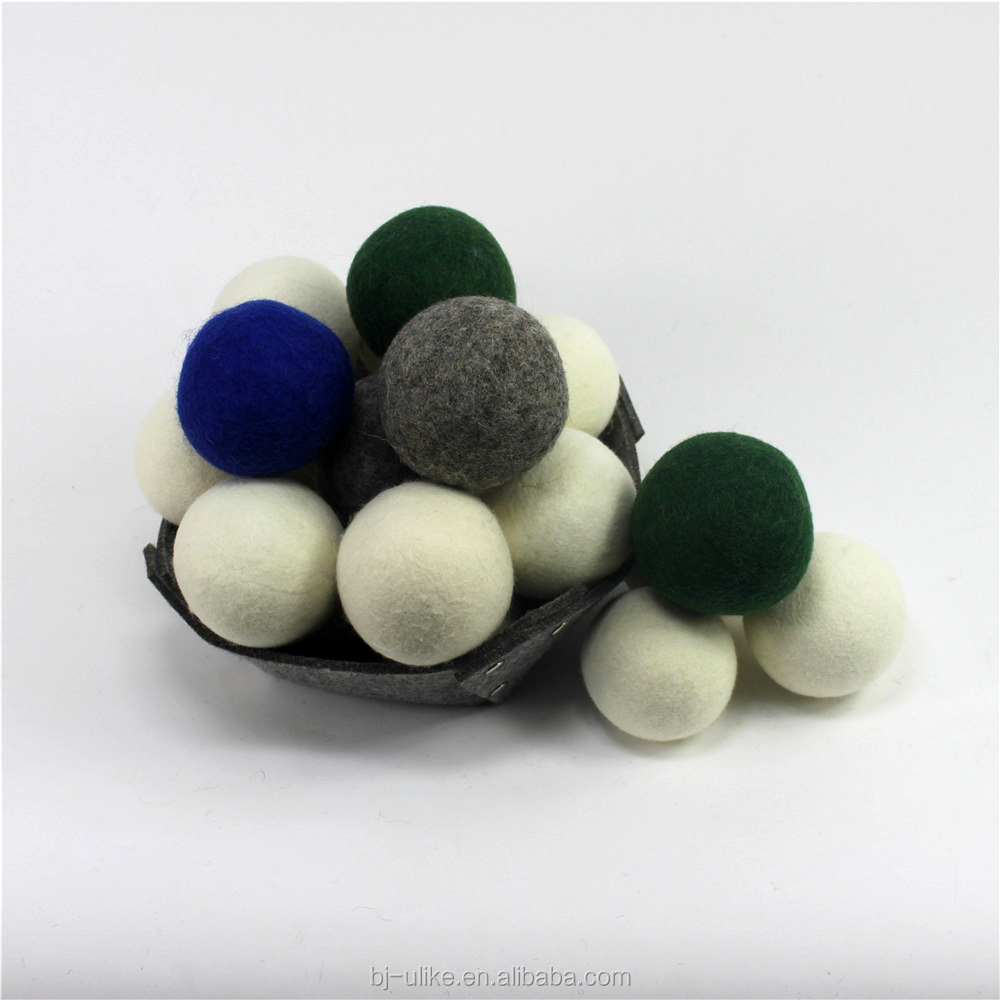 Wool dryer ball for washing machine