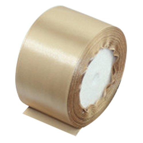 TOOGOO(R) 1 roll (25 yards/roll) 2'' (50mm) single face Satin Ribbon Webbing Decoration Gift Christmas Ribbons(champagne)
