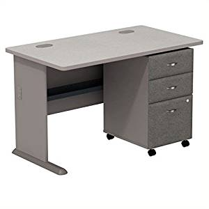 """Bush Business Series A 48"""" Computer Desk with 3-Drawer File Cabinet"""