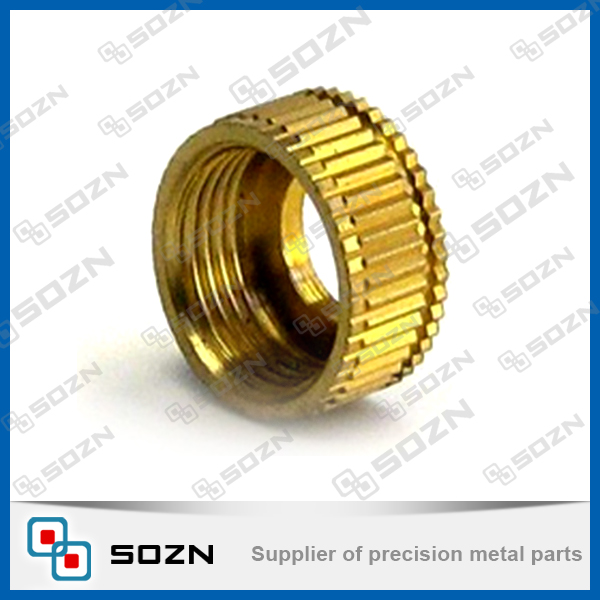 barrel nut/ straight knurled copper nut for inlay application