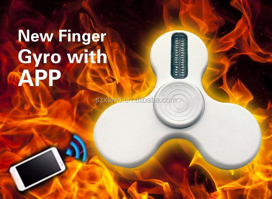 LED Fidget Spinner Color/Characters/Pictures Customisable by Mobilephone App,Finger Gyro Finger toy
