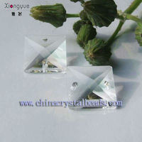 Wholesale fashion new design Crystal chandelier drop shaped Square glass beads from China manufactory for decoration