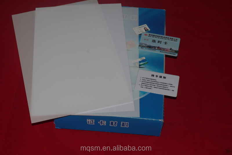 Inkjet White Color Printable Pvc Sheets A4 Size 50sets 0.76mm For ...
