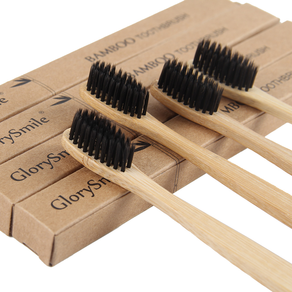 Bamboo Toothbrush Pack of 4 <strong>Eco</strong> Friendly, Organic and Biodegradable Toothbrushes