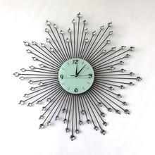 2015 new style antique metal acrylic iron art wall clock