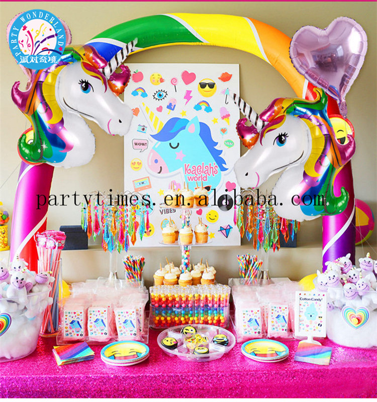 New products unicorn balloons children birthday party supplies wedding baby shower decoration unicorn party supplies