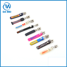 various shapes with different customized logo rubber zipper puller