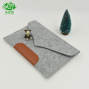 Newest design top quality fashion wool felt laptop bag and felt sleeve bag wholesale