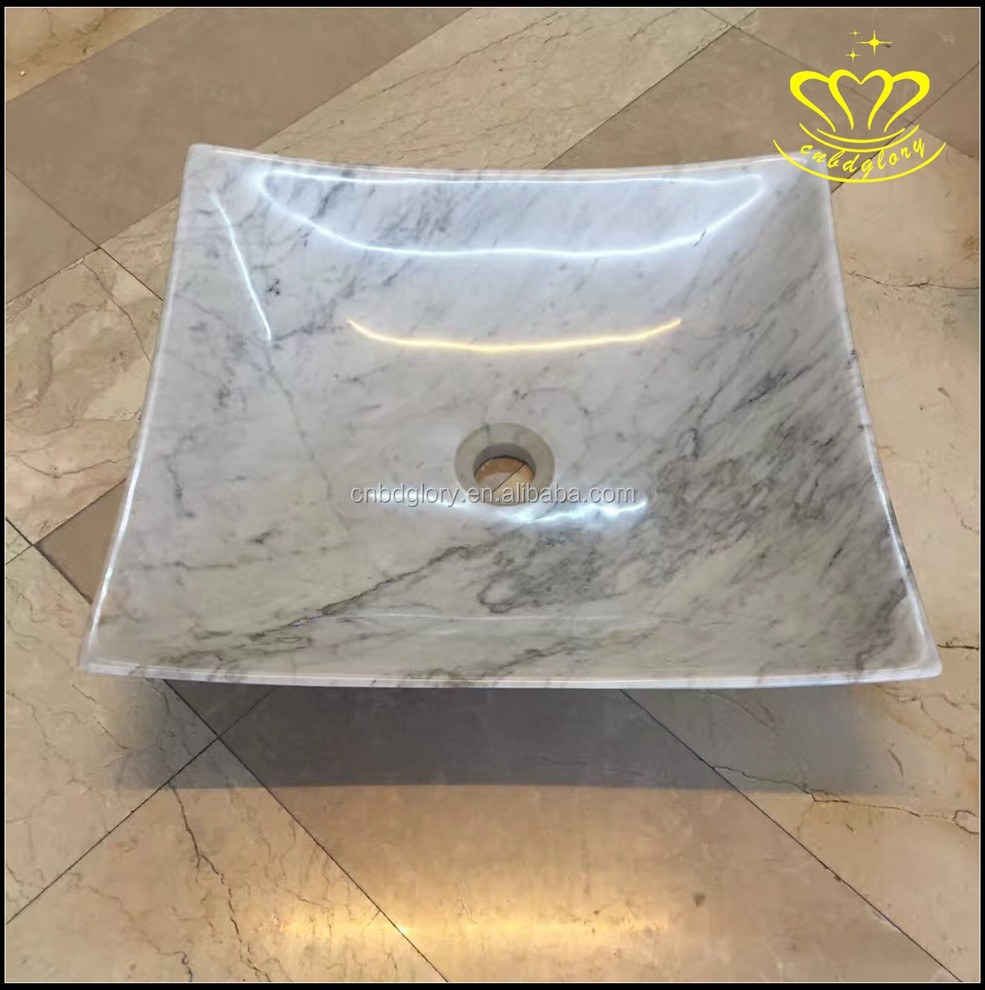 Suitable for Hotel Bathroom Kitchen home decor stone carved New product Marble Wash Basin Sink