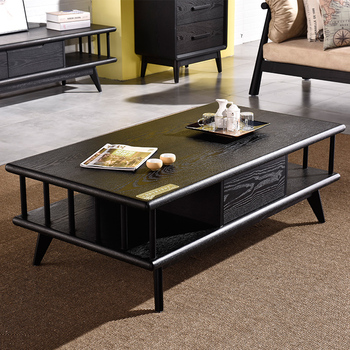 Nordic Japanese Simple Modern Tea Table With Drawers