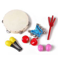 Children musical instrument toy band rhythm kit with case percussion set