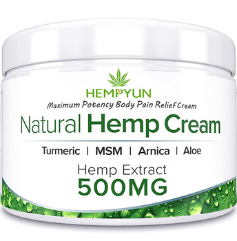 Ramina Natural Hemp Extract Pain Relief Cream with CBD 500mg Relieves Inflammation, Muscle