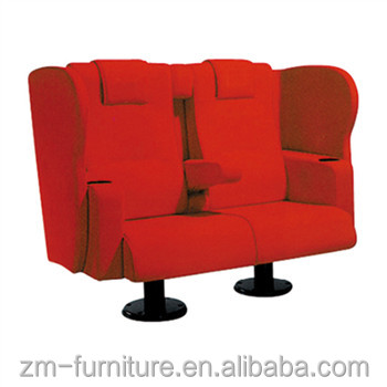 Home Theater Sofa Movie Seating Soft Fabric Cinema Chair