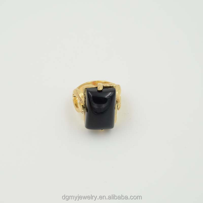Fashion Ring With Black Stone For Men Gold Ring Models Buy Ring