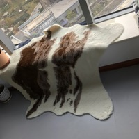 faux fur cowhide 4*6 feet animal printed area rug for home large size
