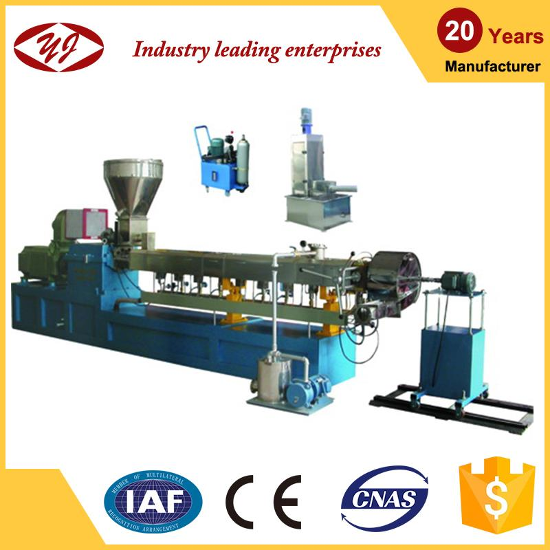 Promotion production line compounding twin screw extruder with water ring