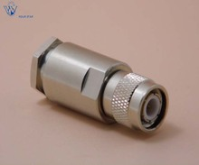TNC male plug clamp connector for LMR400 cable