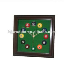 high quality and professional billiard ball design wall clock