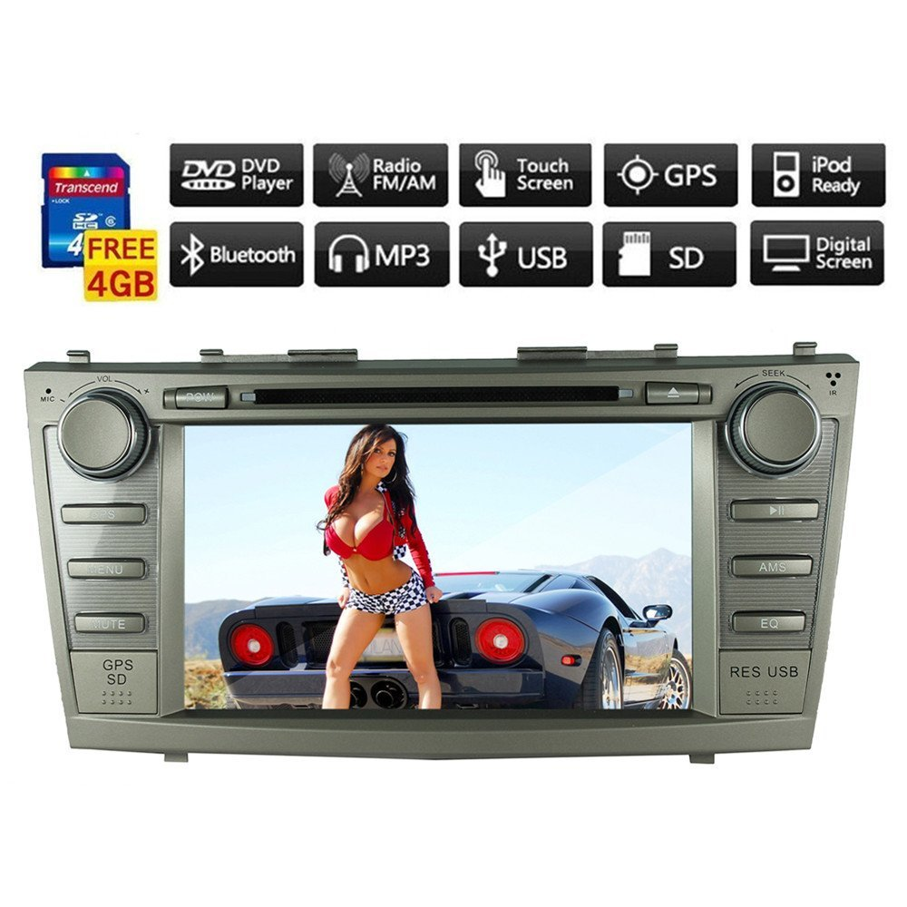 """8"""" Toyota 2007-2011 Camry Motorized Touch Screen 2-din Car DVD Player -Gps-bt-tv-bluetooth-fm Free Map"""