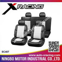 XRACING SC407 sparkle car seat covers,pvc car seat cover,removable car seat covers
