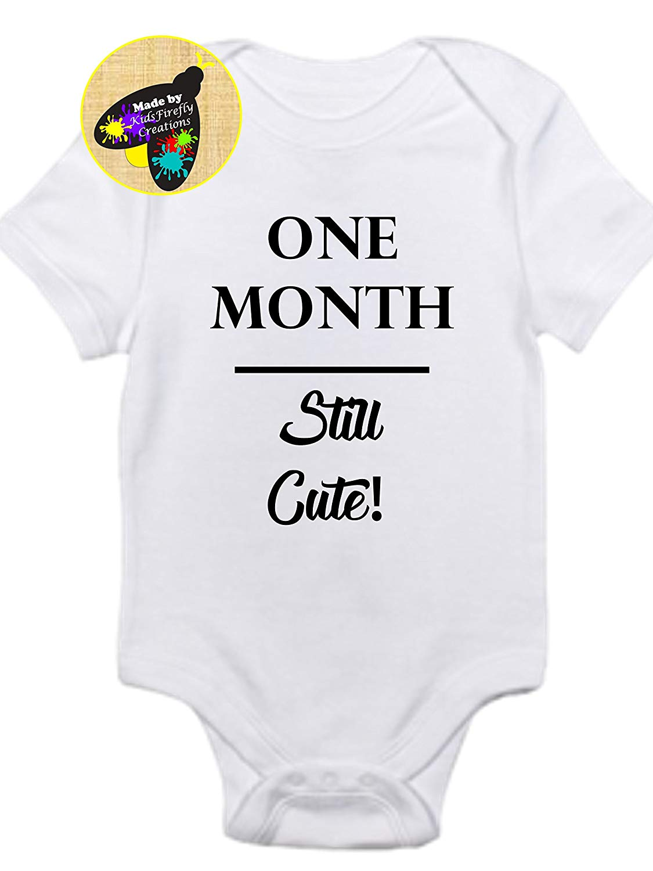 Baby Monthly milestones onesie bodysuit so adorable!