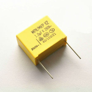 x2 capacitor mpx/mkp Film capacitor 280V 105 275V 105 1UF pin pitch 22mm