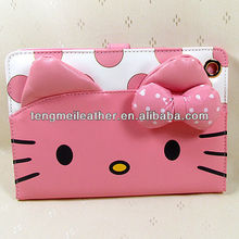 Hello Kitty Cover Skin Wallet Stand Protective Case For Ipad Mini, Waterproof Case For Ipad Mini