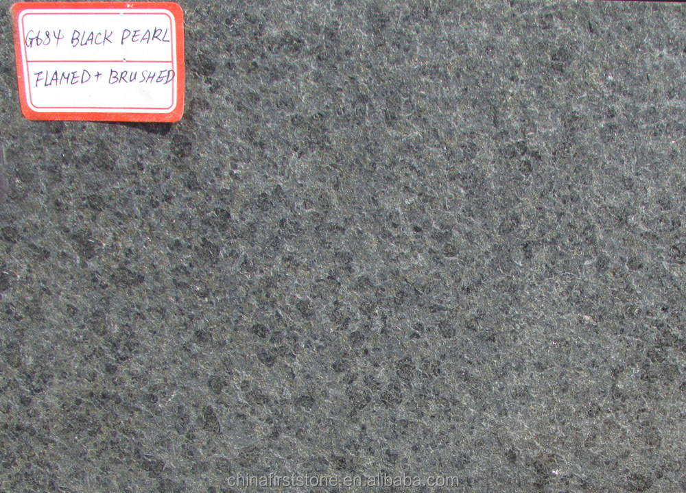 Flamed And Brushed Finish 2cm Thick 50x50 60x60 Black Pearl G684 Price Granite Floor Tile