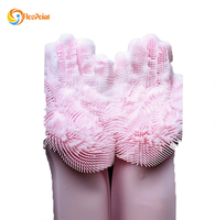 new design multifunctional silicone cleaning brush and gloves for kitchen and housework