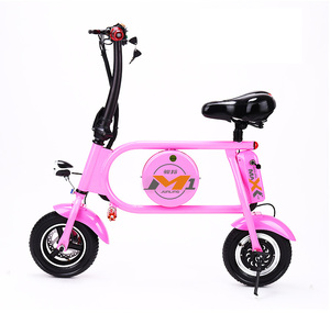 Factory outlet Portable 10inch 36V8Ah/11Ah Lithium electric bicycle mini folding electric bicycle
