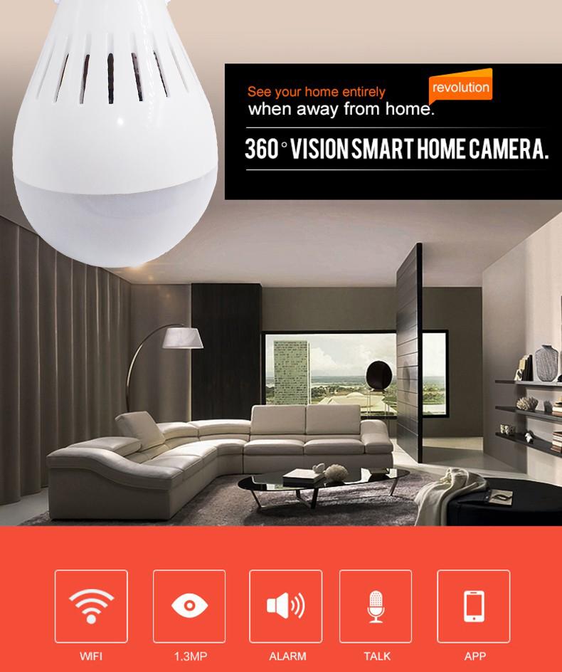 Laikor 1080P HD Light Bulb Wireless Wifi Security IP Camera