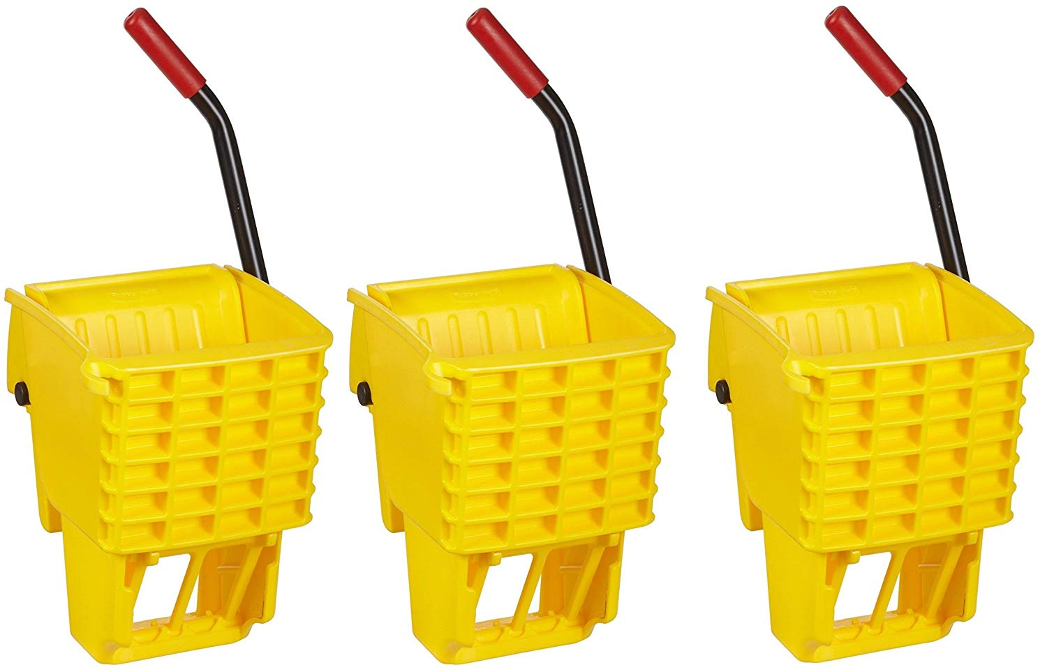 Rubbermaid Commercial FG612788YEL Side-Press Wringer for 13- to 32-ounceWaveBrake Mop Buckets, Yellow (3.PACK)