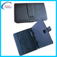"Universal Tablet Flip Cover 6 inch Keyboard Case For Tablet 7"" 8'' 10"" Tablet pc Leather Keyboard Case"
