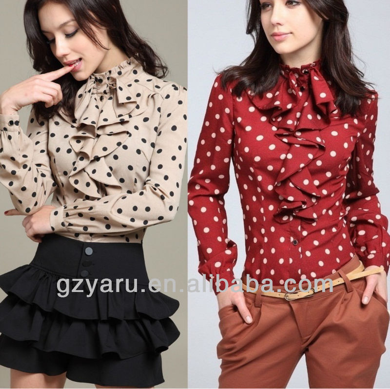 ladies fashion blouses 2012 and tops