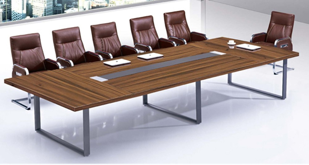 Modern Style Luxury Steel Stainless Frame Conference Table For - 12 person conference table