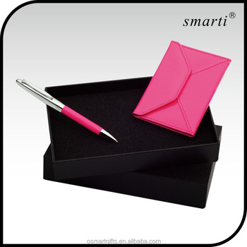 Promotional Office Women Ball Pen Credit Card Holder Gift Sets Items Gifts For