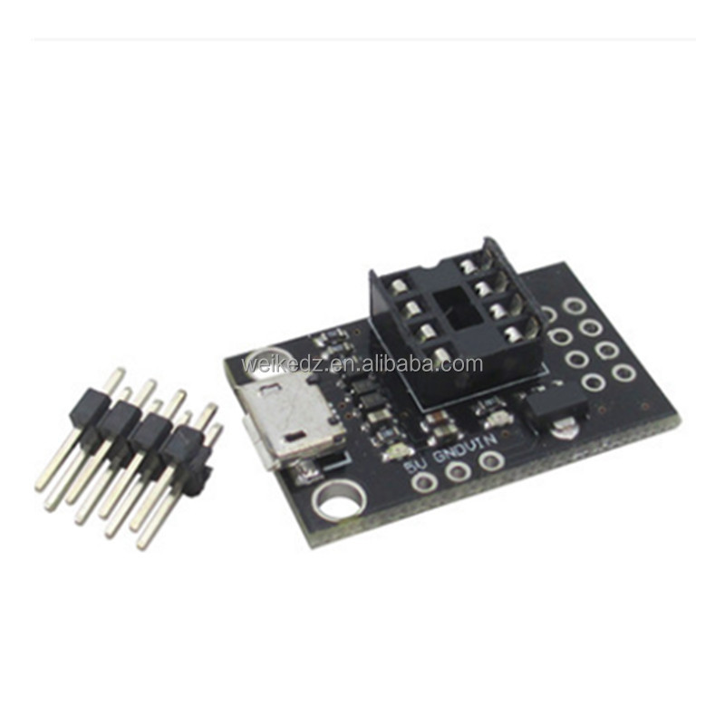 Black Development Programmer Board for ATtiny13A/ATtiny25/ATtiny45/
