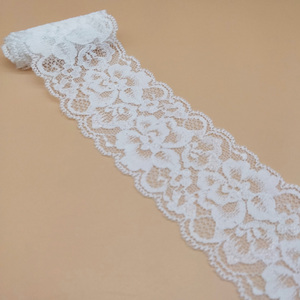Hot sale narrow 5 cm stretch spandex nylon flower elastic lace trim for lingerie