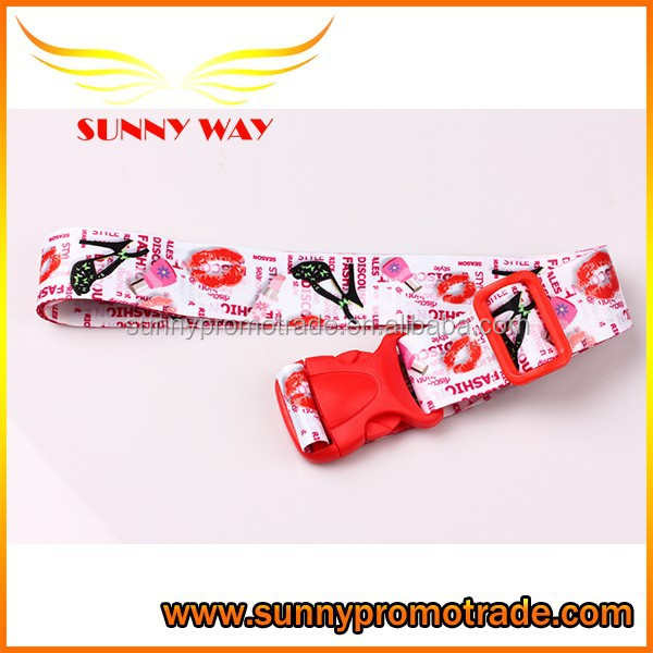 polyester nylon lugagge tag belt with adjustable buckle