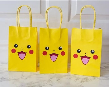 Pokemon Inspired Favor Party Paper Loot Bags For Birthday And Theme Bag Gift