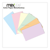 185gsm A4 size color paper board with 5 pastel colors