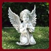 Customized Carved Polishing Marble Angel Garden Statue
