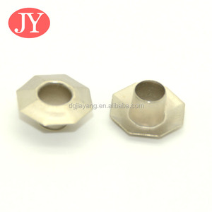 fashion clothes accessories special shape metal octagon eyelet
