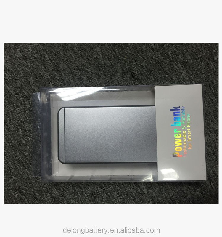 mobile flat ultra slim qc2.0 power bank charger with 5000mAh