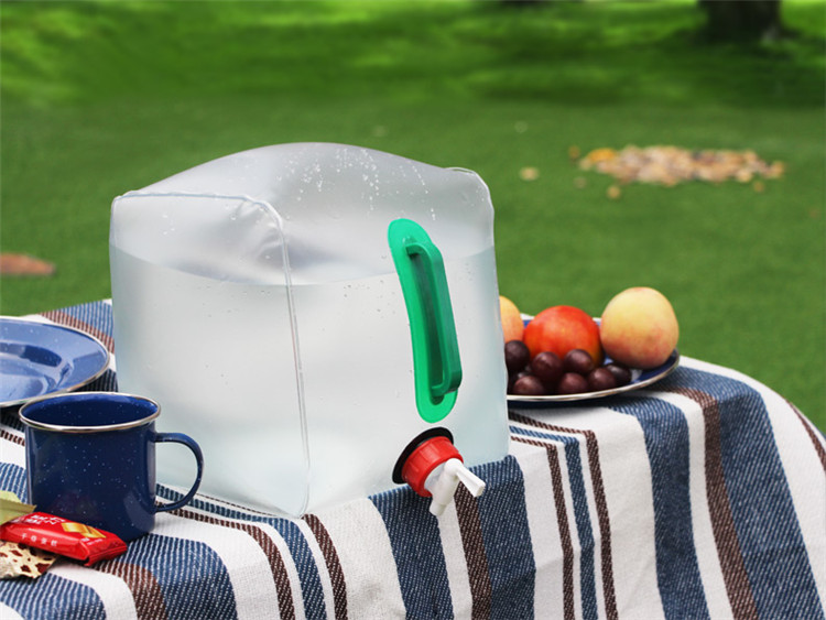 Food grade 10L 15L 20L foldable water bag for camping