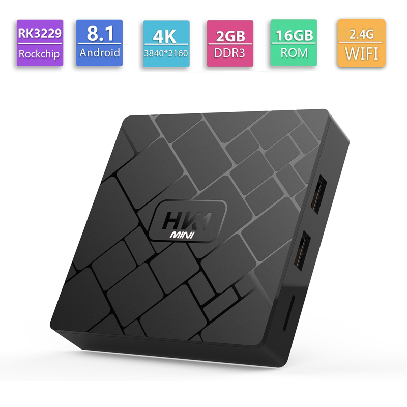 HK1 MINI RK3229 4K Ott Smart Android 8.1 Quad Core Android Tv Box