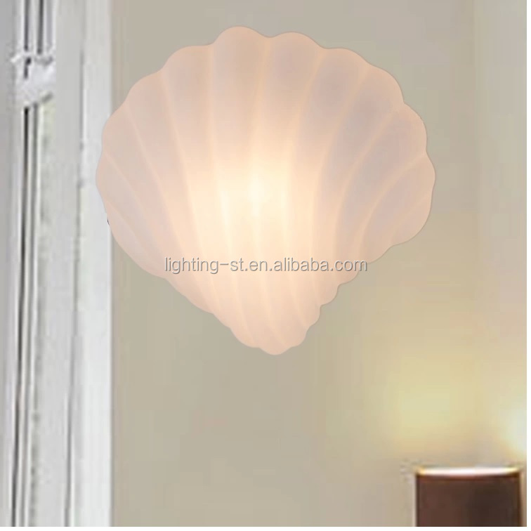 New Contemporary Sea Shell Style Glasscover Sconces Wall Light ...