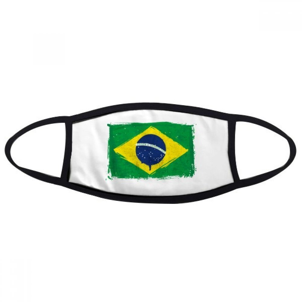 Hand-painted Brazil Flag World Cup Logo Brazil Cultural Element Face Anti-dust Mask Anti Cold Maske Gift